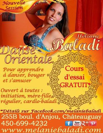 Mélanie Baladi - École/Boutique de danse orientale - Cous de baladi et danse orientale